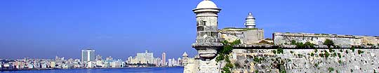 Description: The city of Havana as seen from the fortress El Morro, across the harbor